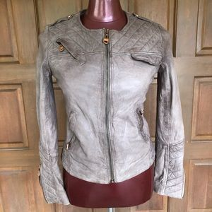 DOMA Taupe Soft Leather Jacket small
